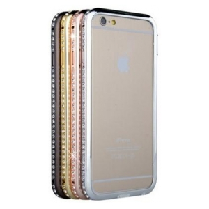 Бампер Metal Bumper with Swarovski for iPhone 6 Plus Gold